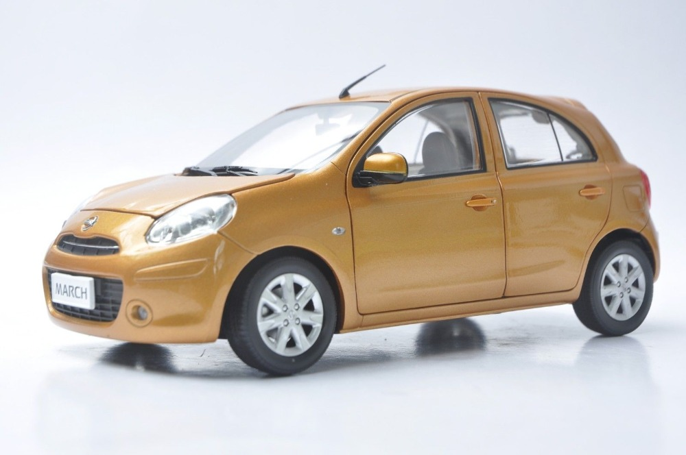 1/18 Nissan March Micra Orange Minicar Alloy Toy Car, Diecast Scale Model Car, Collectible Model Car, Miniature Collection Die-cast Toy Vehicles Gifts