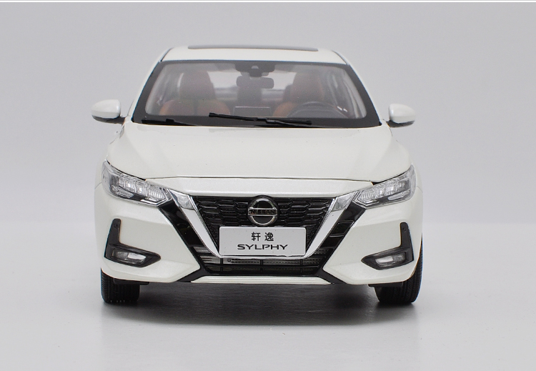 1/18 Nissan Sylphy 2019 White Alloy Toy Car, Diecast Scale Model Car, Collectible Model Car, Die cast Toy Vehicles
