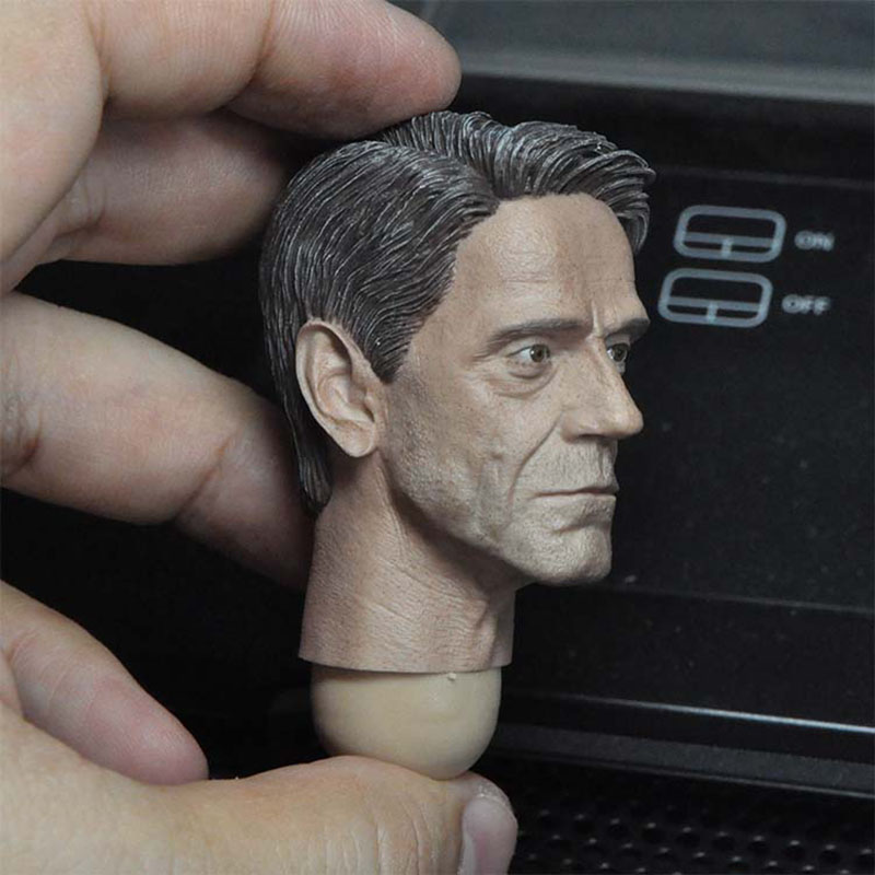 1/6 Scale Old Man Alfred Jeremy Head Sculpture Model Fit 12