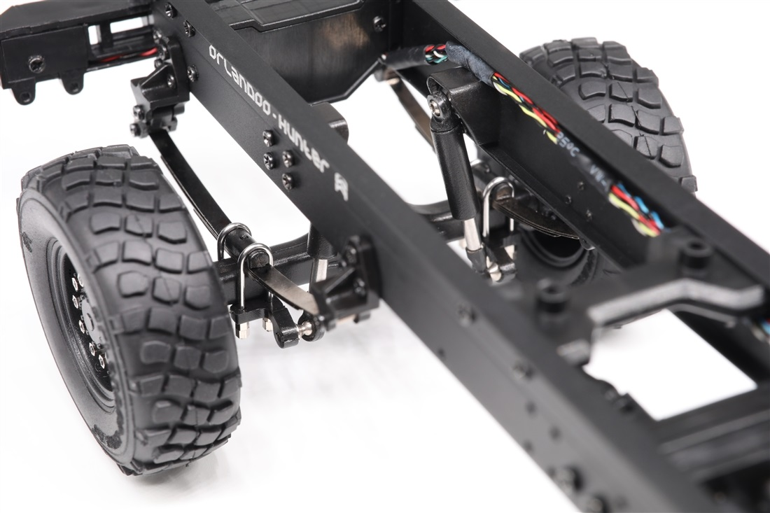 (Contains All Electronic Parts) Orlandoo Hunter OH32M01 FULL KIT, 1/32 4WD DIY Unpainted Grey Tractor Full Leaf Spring RC Car Military Truck Vehicles Models.