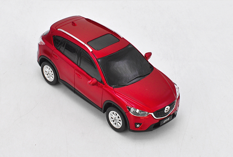 1:43 Plastic Model for Mazda CX-5 2014 Red SUV Plastic Pull-back Toy Car Miniature Collection Gift CX5 CX 5