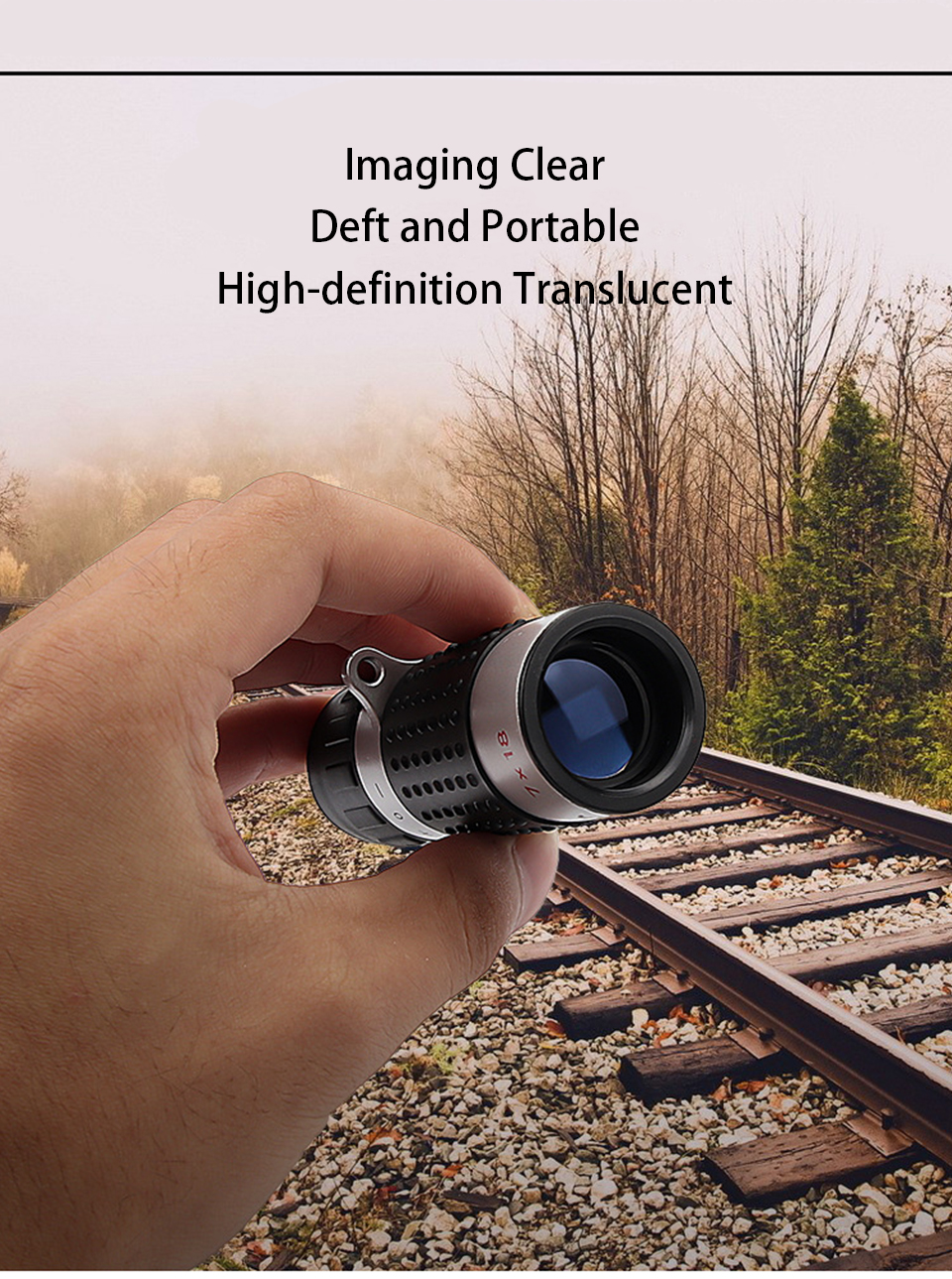 Powerful 7X18 HD Zoom Mini Pocket Monocular Telescope High Power Low Light Night Vision Telescope for Outdoor Camping Hiking, (Telescope For Sale, Telescope For Adults, Telescope For Kids, Telescope For Beginners, Best Outdoor Telescope).