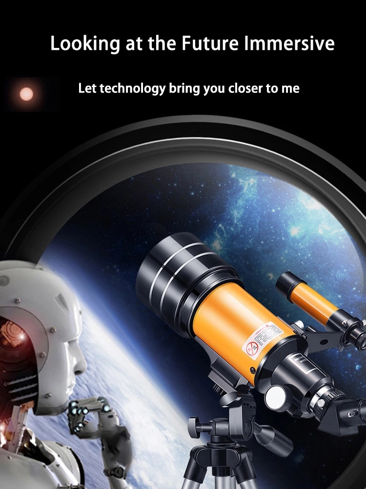 Professional Astronomical Telescope 70MM Eyepiece 150Times Zoom High-Power Night Vision Deep Space Star View Universe Telescope, (Telescope For Sale, Telescope For Adults, Telescope For Kids, Telescope For Beginners, Best Outdoor Telescope).