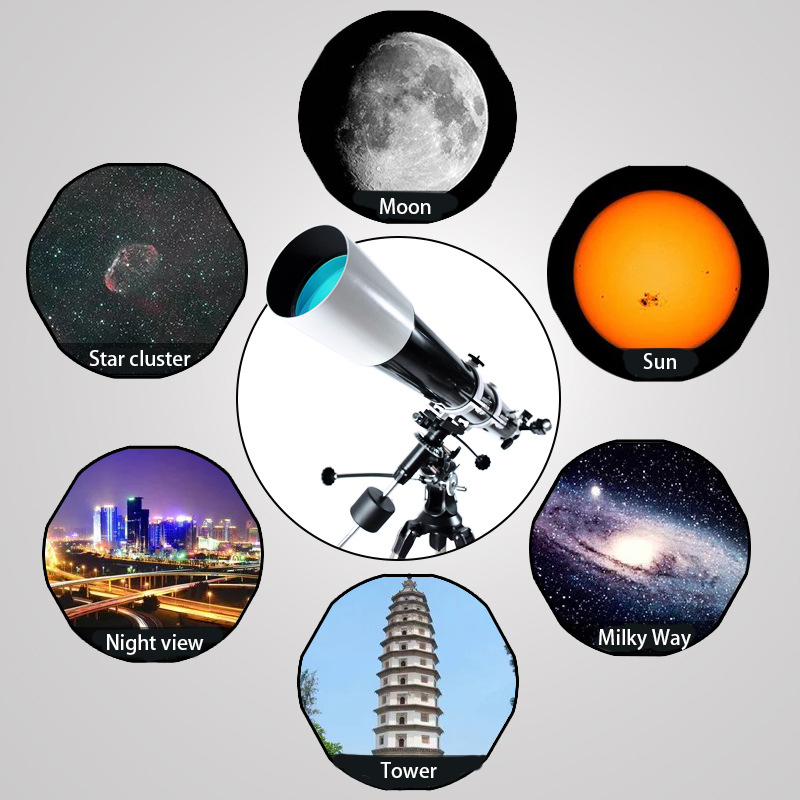 Professional Astronomical Telescope 80MM Large Caliber Refractor Telescope High Power Night Vision HD for Space Star View Moon, (Telescope For Sale, Telescope For Adults, Telescope For Kids, Telescope For Beginners, Best Outdoor Telescope).