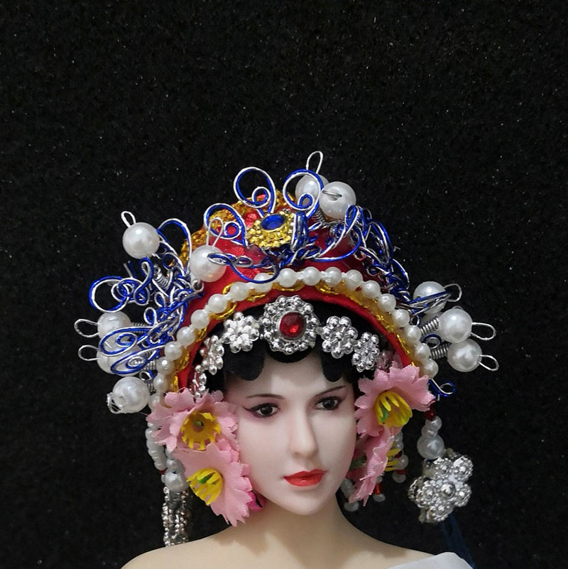 1/6 Scale The Quintessence of Beijing Opera Head Sculpture Fit 12