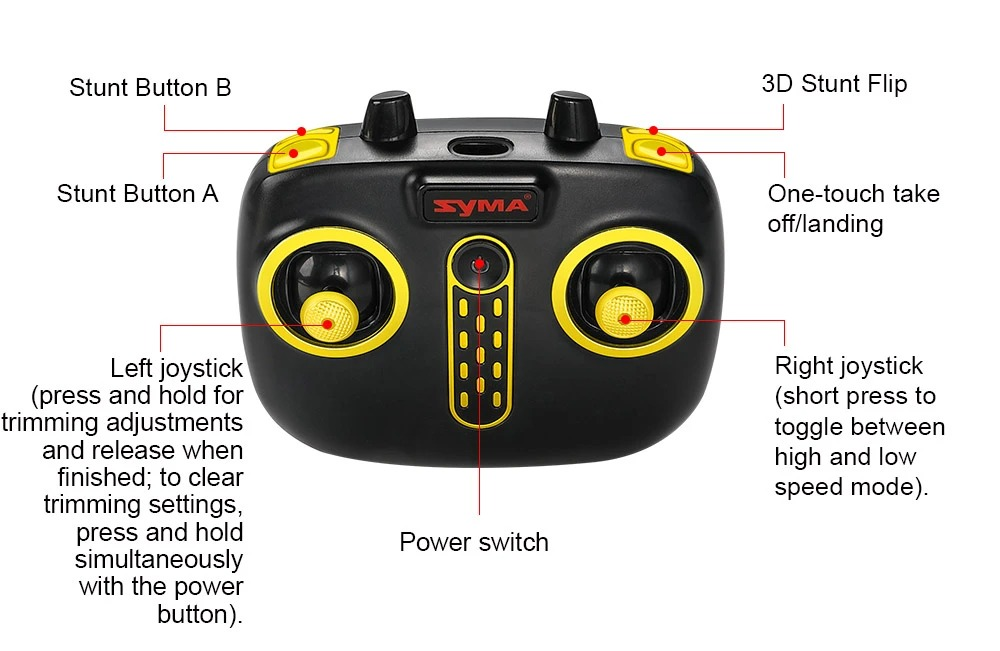 Remote Control Drone with Gyro, 3D Stunt Flip RC Helicopter,One Key To Retrun, Hover Function, Low Voltage Protection, Propellers Protection.