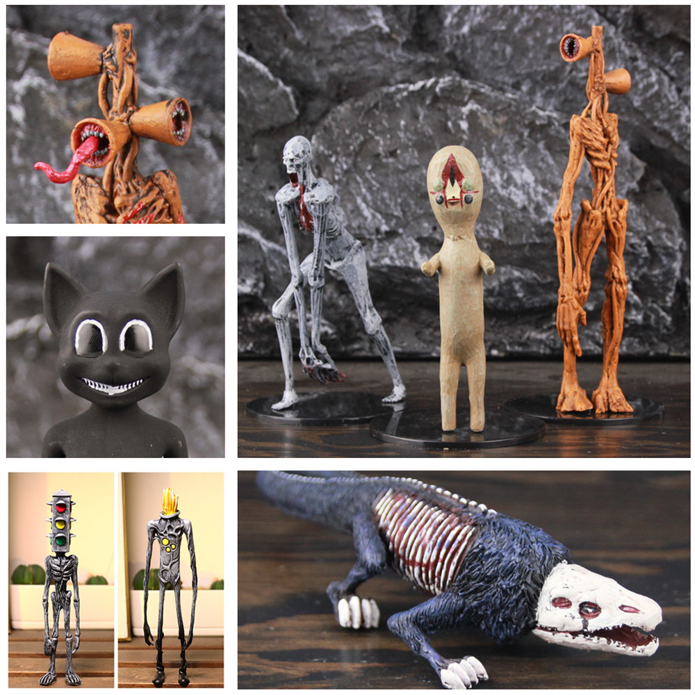 20cm SirenHead Figurine Scp Horror Foundation Movie Game SCP 6789 Siren Head Action Figure Toy Sirenhead Model Doll Toys For Kids Xmas Birthday Gifts