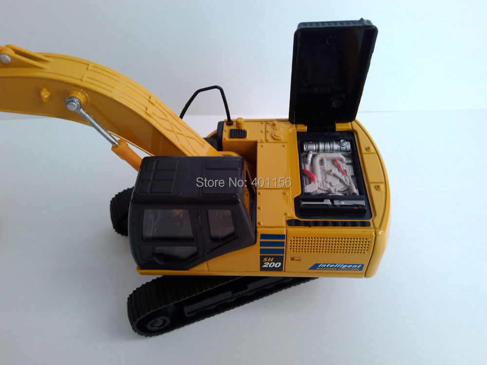 1:50 SH200 Hydraulic Excavator toy, (Scale Model Truck, Construction vehicles Scale Model, Alloy Toy Car, Diecast Scale Model Car, Collectible Model Car, Miniature Collection Die cast Toy Vehicles Gifts).