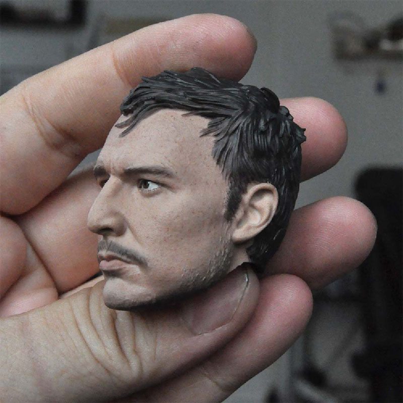 1/6 Scale Male Soldier Pedro Pasca Head Sculpture Model Fit 12¡± Male Soldier Action Figure Body In Stock