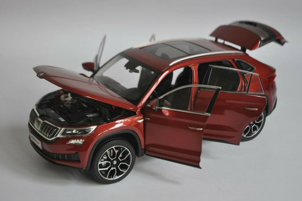 1/18 Skoda Kodiaq GT 2018 Red SUV Alloy Toy Car, Diecast Scale Model Car, Collectible Model Car, Miniature Collection Die-cast Toy Vehicles Gifts