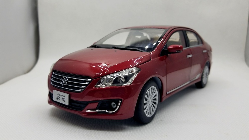 1/18 Suzuki Alivio Ciaz Red Sedan Alloy Toy Car, Diecast Scale Model Car, Collectible Model Car, Miniature Collection Die-cast Toy Vehicles Gifts