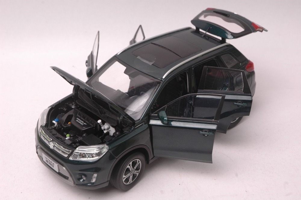 1/18 Suzuki Vitara Escudo 2016 Deep Green SUV Alloy Toy Car, Diecast Scale Model Car, Collectible Model Car, Miniature Collection Die-cast Toy Vehicles Gifts