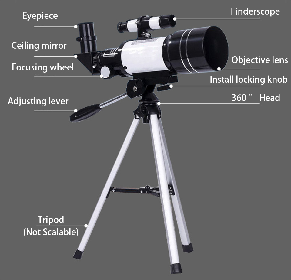 Telescopio Astronomico Profesional HD Powerful Zoom High Quality Astronomical Telescope Night Vision Deep Space Star View Moon, (Telescope For Sale, Telescope For Adults, Telescope For Kids, Telescope For Beginners, Best Outdoor Telescope).