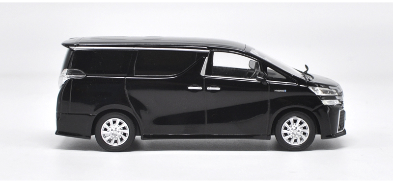 1/30 Toyota Alphard VELLFIRE Black MPV Alloy Toy Car, Diecast Scale Model Car, Collectible Model Car, Miniature Collection Die-cast Toy Vehicles Gifts