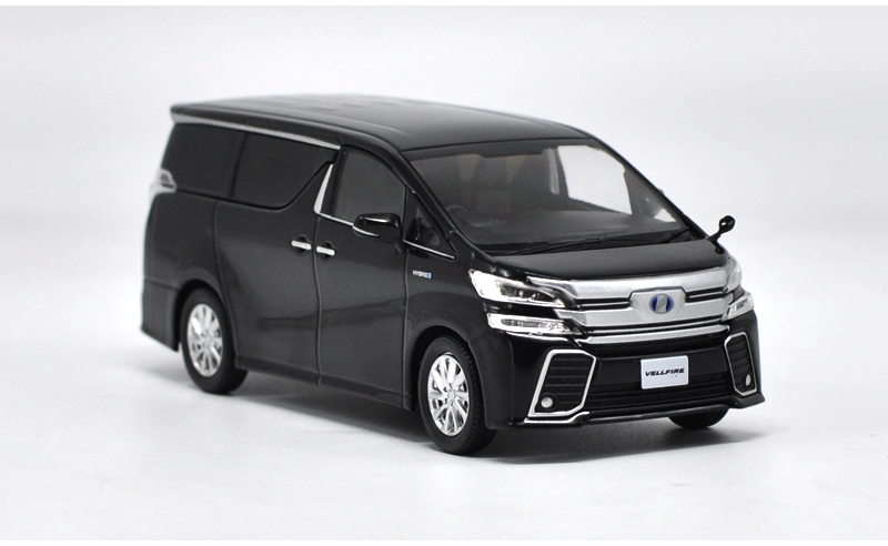1/18 Toyota Alphard VELLFIRE Dark Blue MPV Alloy Toy Car, Diecast Scale Model Car, Collectible Model Car, Miniature Collection Die-cast Toy Vehicles Gifts