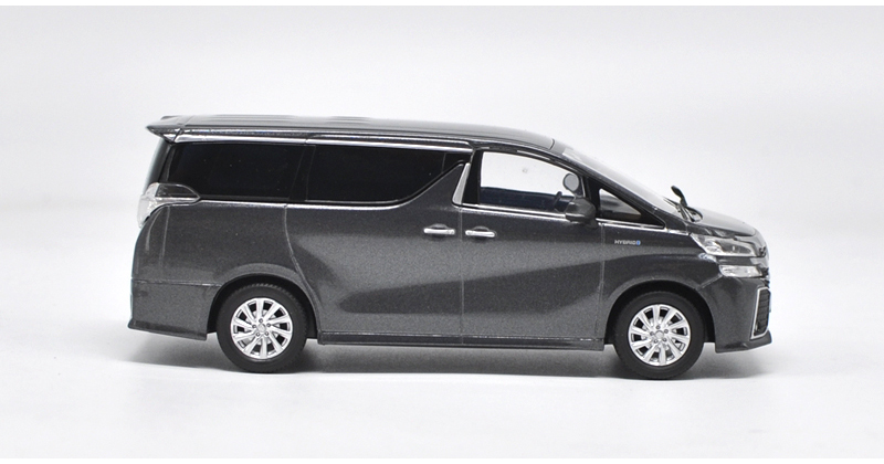 1/30 Toyota Alphard VELLFIRE Grey MPV Alloy Toy Car, Diecast Scale Model Car, Collectible Model Car, Miniature Collection Die-cast Toy Vehicles Gifts
