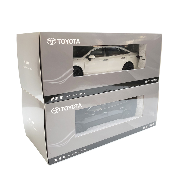 1/18 Toyota Avalon 2019 White Sedan Alloy Toy Car, Diecast Scale Model Car, Collectible Model Car, Miniature Collection Die-cast Toy Vehicles Gifts