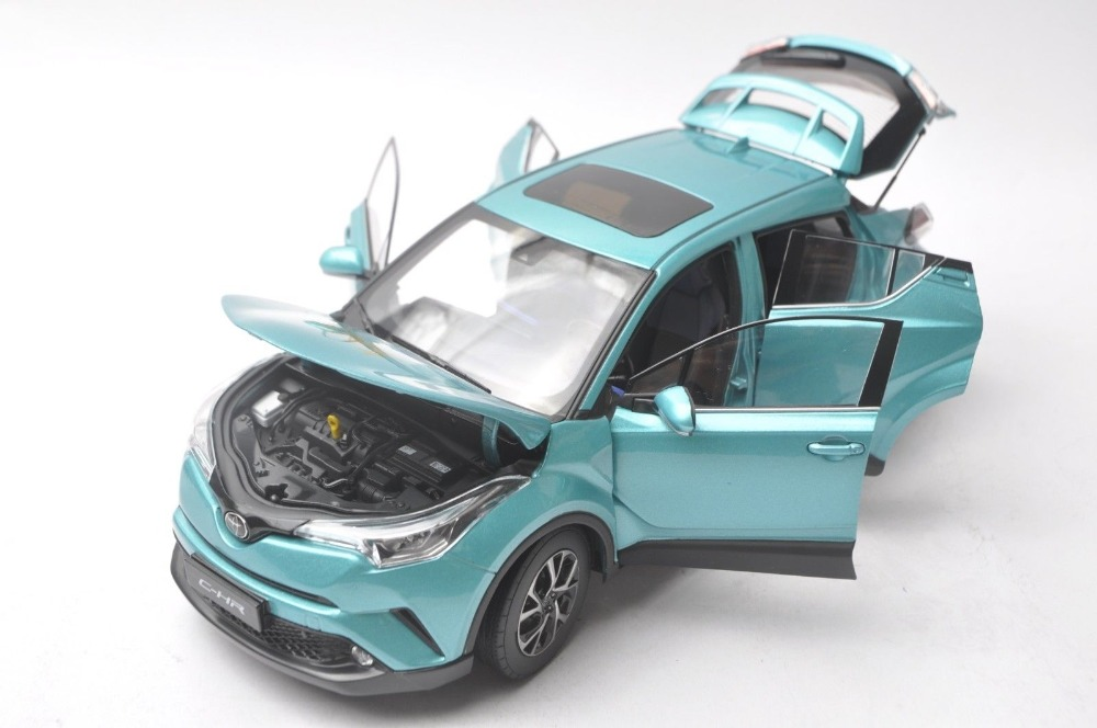 1/18 Toyota C-HR 2017 All Green (CHR C HR Special Edtion) Alloy Toy Car, Diecast Scale Model Car, Collectible Model Car, Miniature Collection Die-cast Toy Vehicles Gifts
