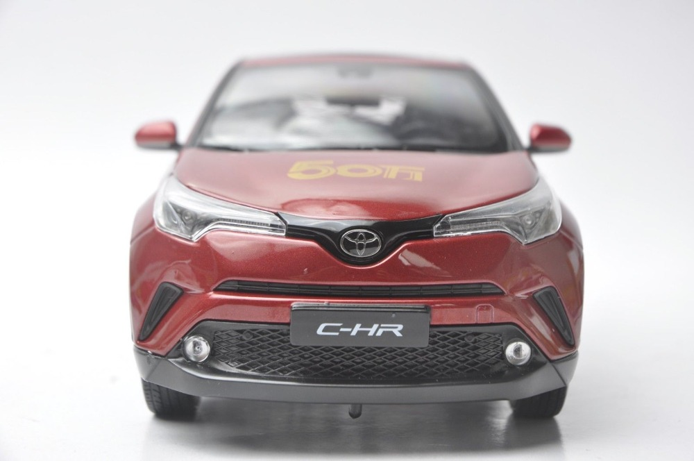 1/18 Toyota C-HR 2017 All Red (CHR C HR Special Edtion) Alloy Toy Car, Diecast Scale Model Car, Collectible Model Car, Miniature Collection Die-cast Toy Vehicles Gifts