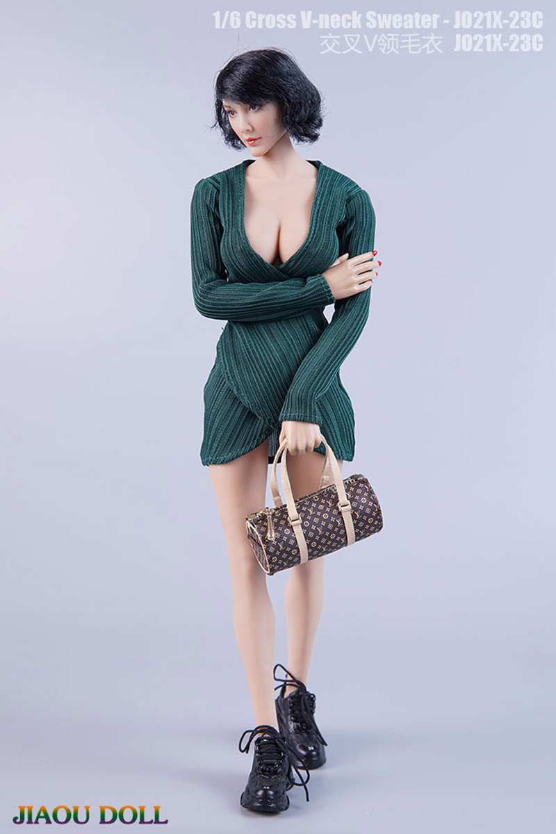 1/6 Scale V-neck Slim-fit Tight-fitting Sweater JO21X-23 Sexy Dress Fit 12