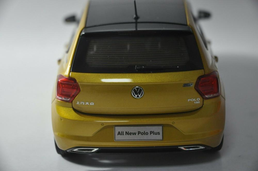 1/18 Volkswagen VW All New Polo Plus 2019 Hatchback Alloy Toy Car, Diecast Scale Model Car, Collectible Model Car, Miniature Collection Die-cast Toy Vehicles Gifts