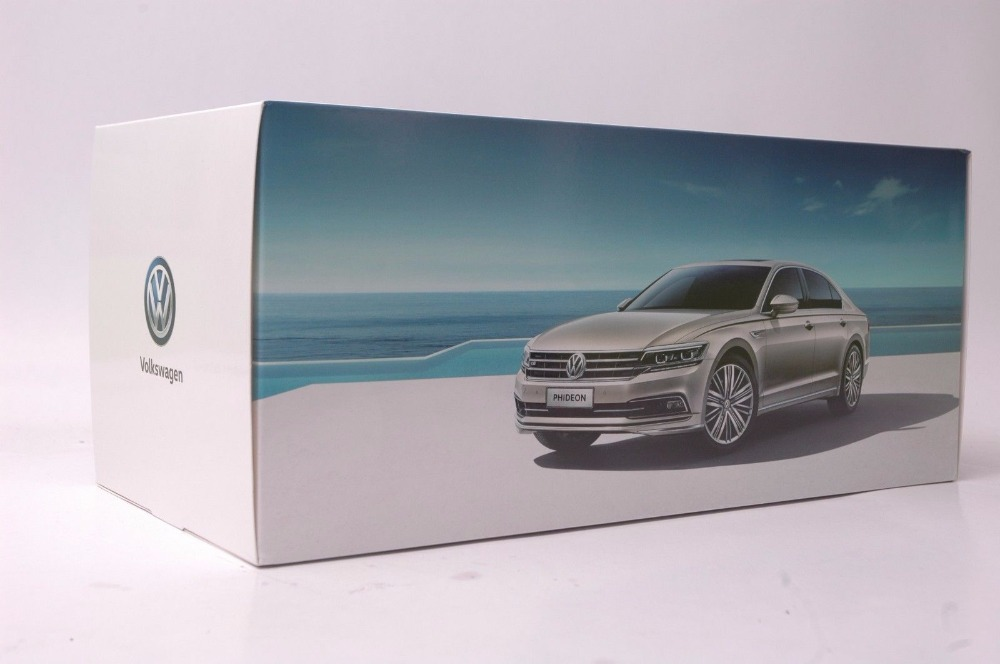 1/18 Volkswagen VW Phideon 2016 Brown Alloy Toy Car, Diecast Scale Model Car, Collectible Model Car, Miniature Collection Die-cast Toy Vehicles Gifts