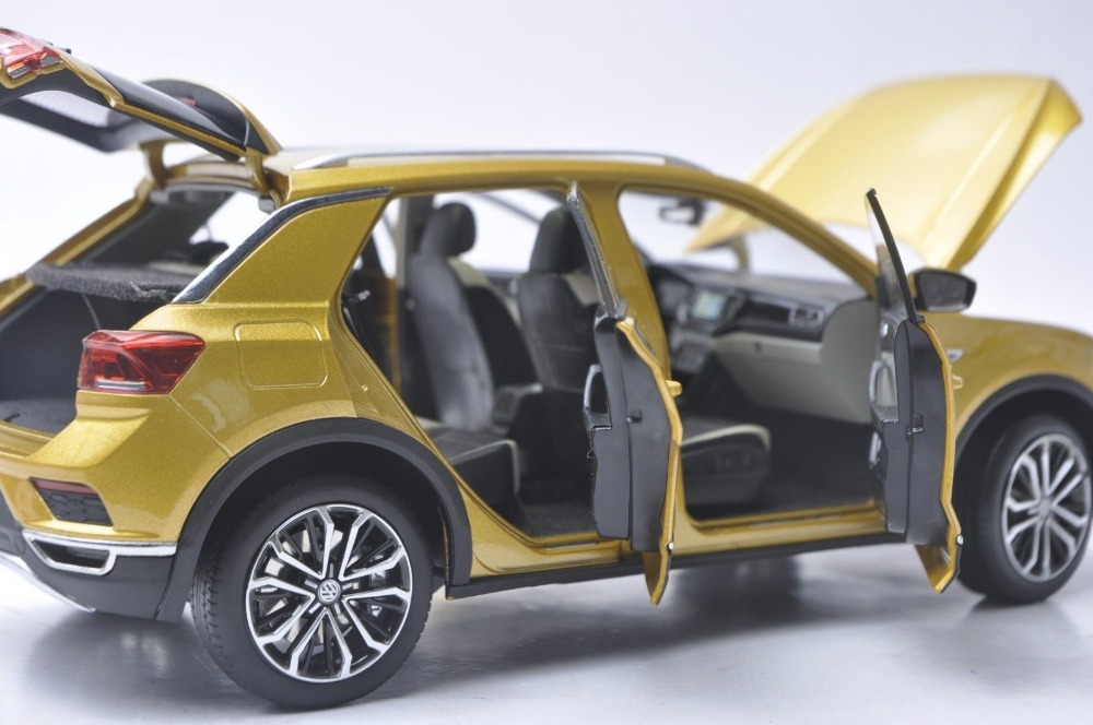 1/18 Volkswagen VW T-ROC TROC T Roc 2018 Gold SUV Alloy Toy Car, Diecast Scale Model Car, Collectible Model Car, Miniature Collection Die-cast Toy Vehicles Gifts
