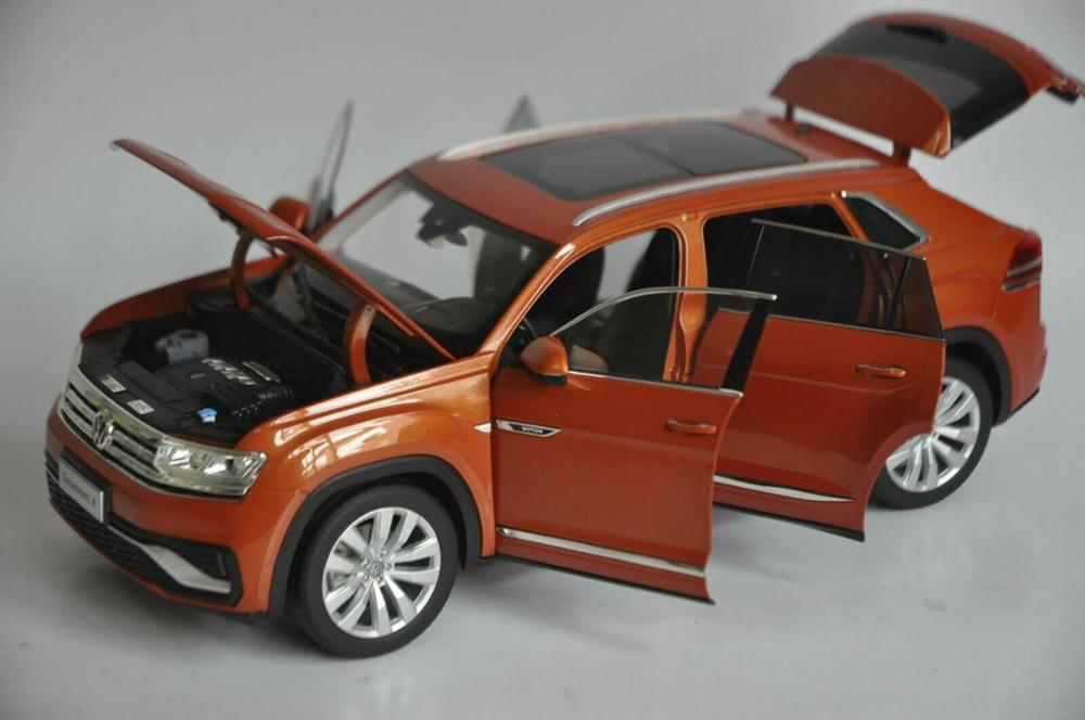 1/18 Volkswagen VW Teramont X Atlas 2019 Orange Large SUV Alloy Toy Car, Diecast Scale Model Car, Collectible Model Car, Miniature Collection Die-cast Toy Vehicles Gifts