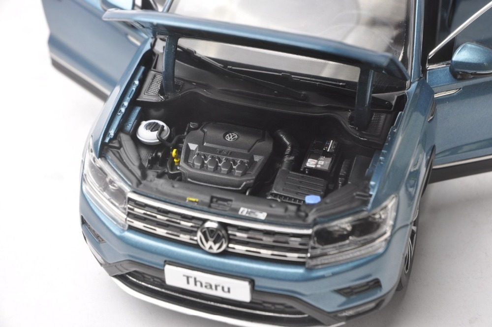 1/18 Volkswagen VW Tharu 2018 Blue New SUV Alloy Toy Car, Diecast Scale Model Car, Collectible Model Car, Miniature Collection Die-cast Toy Vehicles Gifts