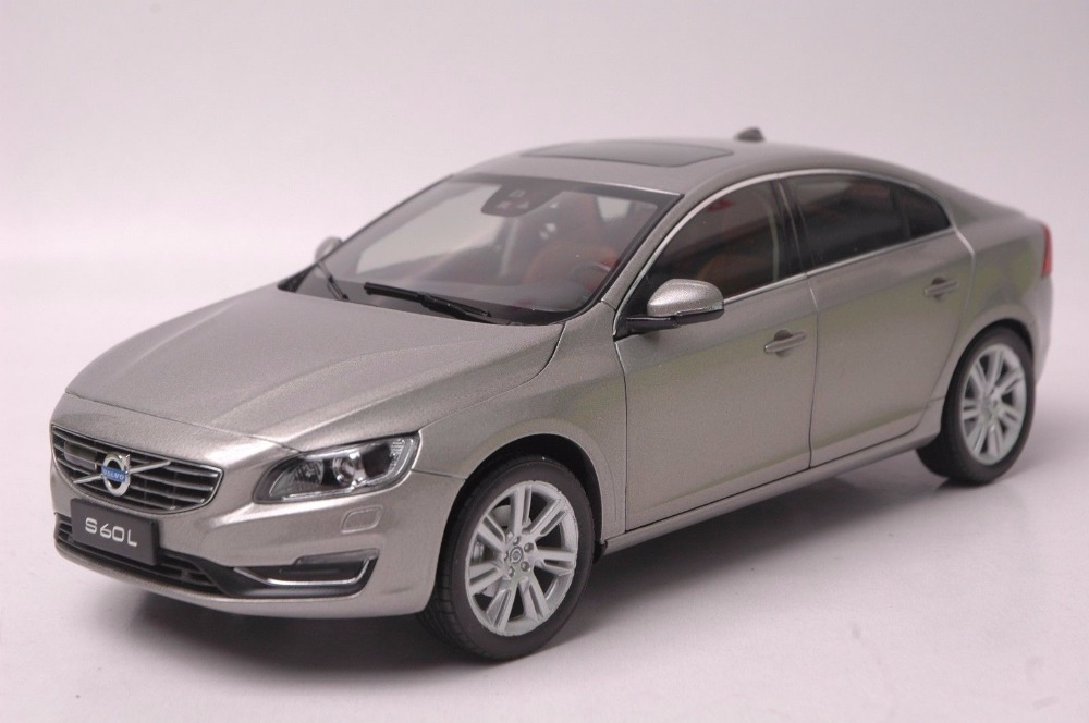 1/18 Volvo S60L S60 2015 Gold Sedan Alloy Toy Car, Diecast Scale Model Car, Collectible Model Car, Miniature Collection Die-cast Toy Vehicles Gifts