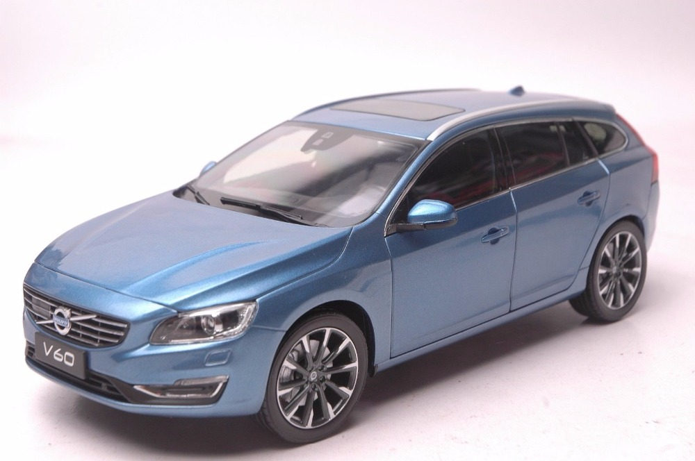 1/18 Volvo V60 2016 Blue SUV Alloy Toy Car, Diecast Scale Model Car, Collectible Model Car, Miniature Collection Die-cast Toy Vehicles Gifts