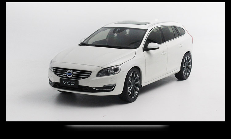 1/18 Volvo V60 2016 White SUV Alloy Toy Car, Diecast Scale Model Car, Collectible Model Car, Miniature Collection Die-cast Toy Vehicles Gifts