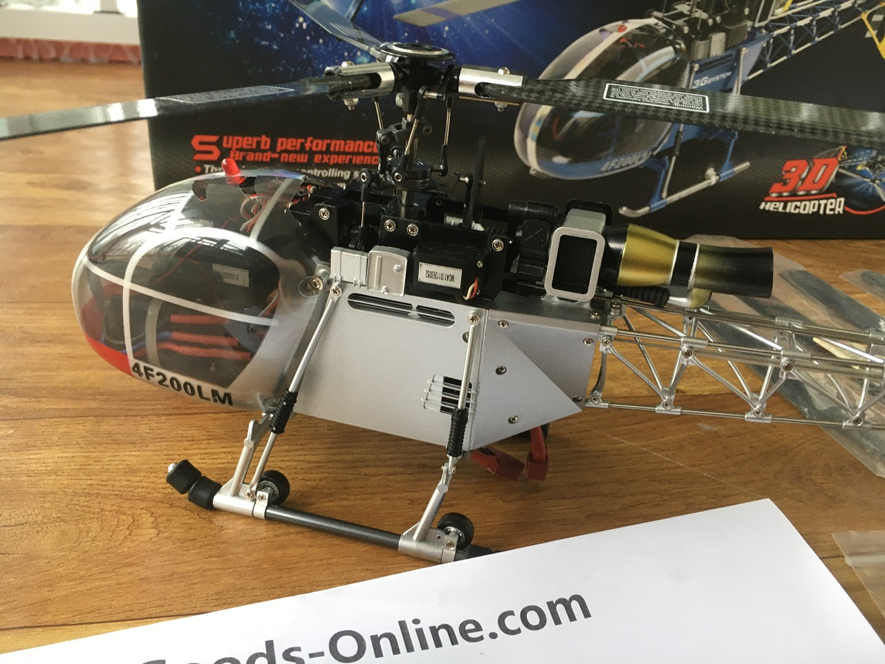 Walkera 4F200LM SA 315B Lama RC Helicopter, AEROSPATIALE SA-315 Lama Ready to Fly High Simulation Scale Model Radio Remote Control Helicopter