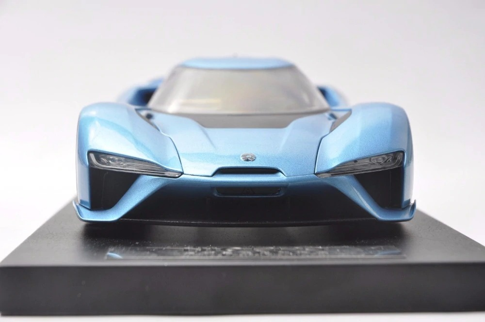 1/18 Weilai NIO EP9 Blue Electric Sport Car Alloy Toy Car, Diecast Scale Model Car, Collectible Model Car, Miniature Collection Die-cast Toy Vehicles Gifts