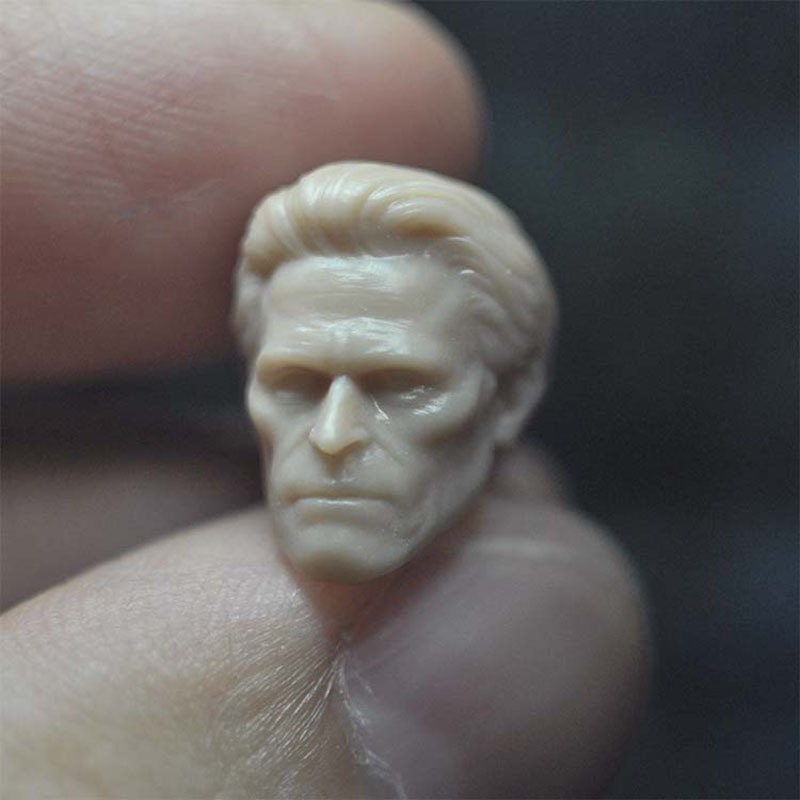 1/18 Scale William Dafoe Unpainted Head Sculpture Model Fit 3.75¡± Male Soldier Action Figure Body In Stock