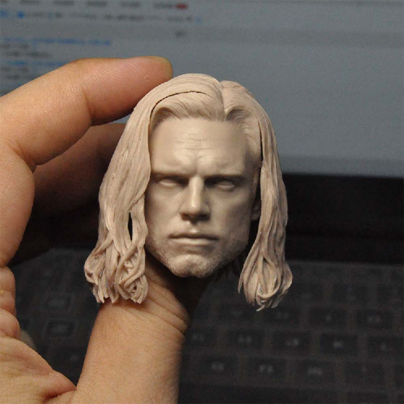 1/6 Scale Winter Soldier 3.0 Unpainted Head Sculpture Model Hair Removal Fit 12¡± Male Soldier Action Figure Body In Stock