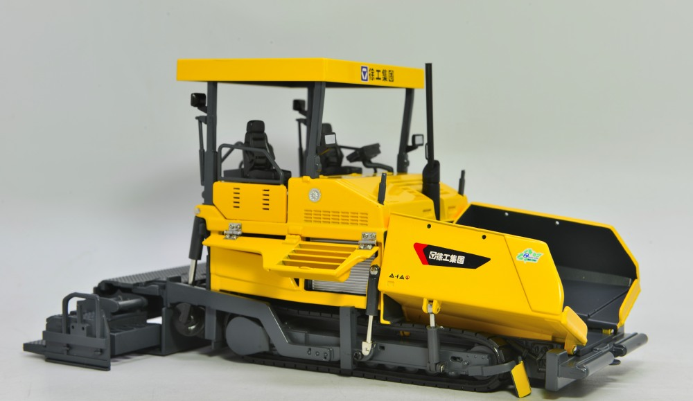 1:35 XCMG RP1256 Asphalt Paver with Canopy toy, (Scale Model Truck, Construction vehicles Scale Model, Alloy Toy Car, Diecast Scale Model Car, Collectible Model Car, Miniature Collection Die cast Toy Vehicles Gifts).