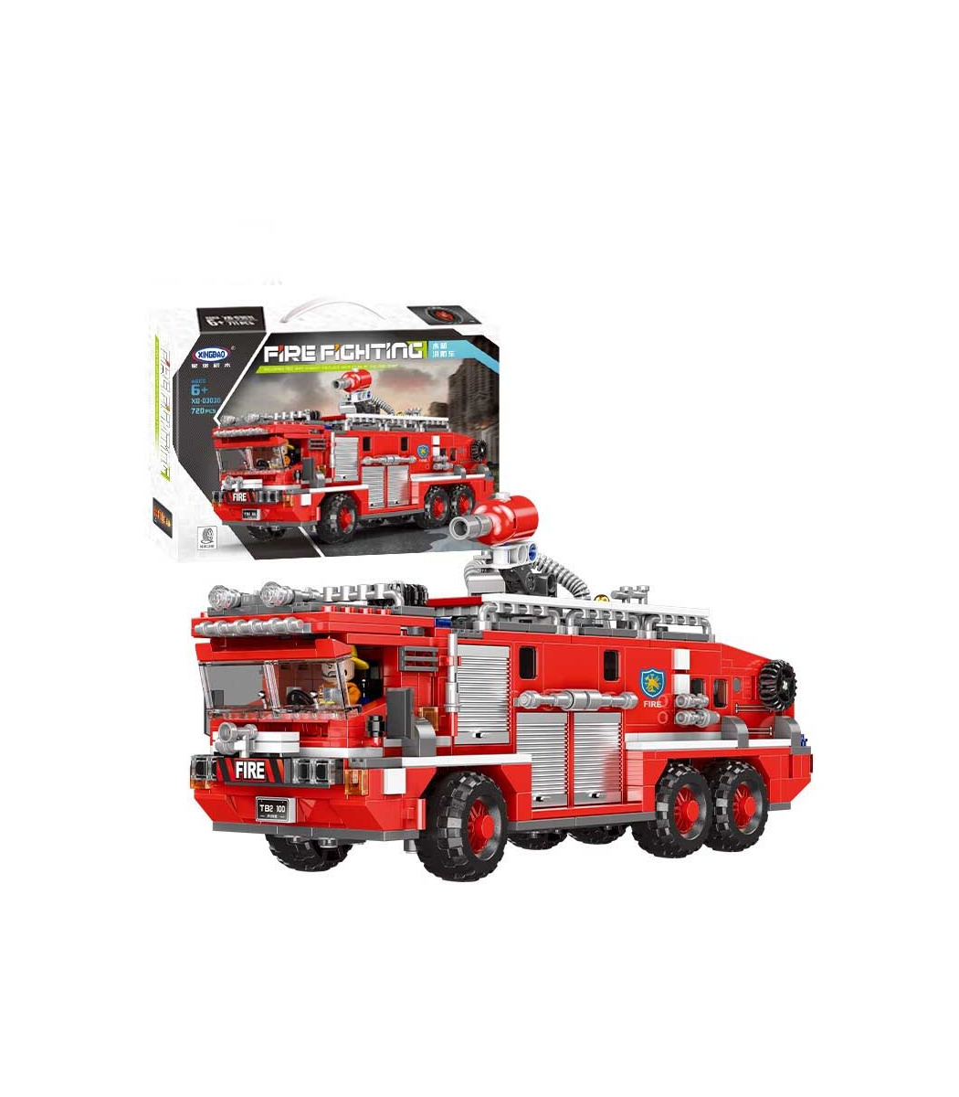 XINGBAO 03030 Fire Fighting Water Tank Fire Truck Building Bricks Toy Set, (MOC Custom Brick Sets, Compatible Building Blocks Toys Ideas, Building Bricks Meaning)