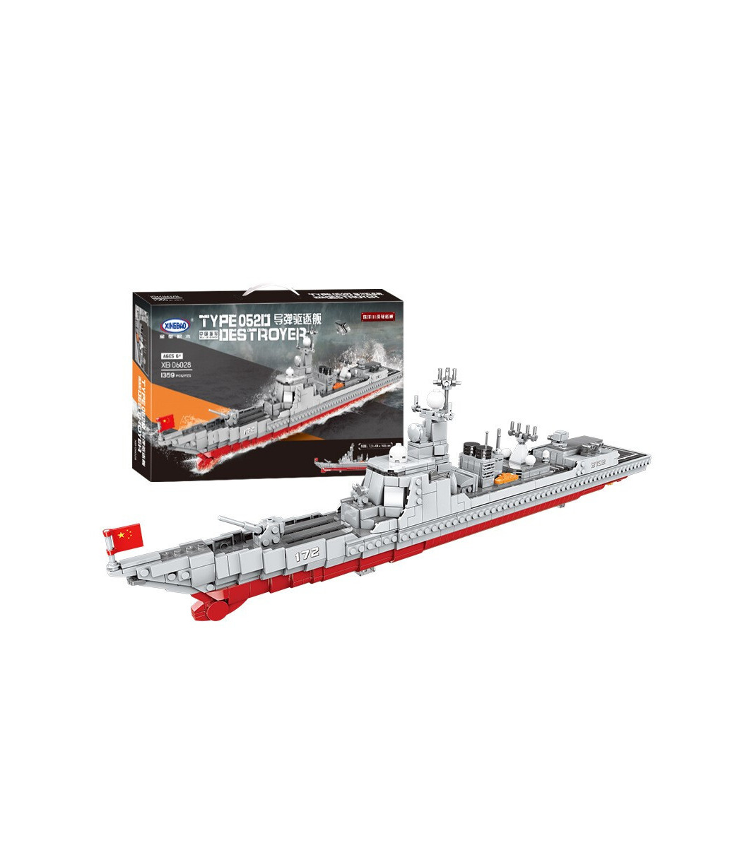 XINGBAO 06028 The Missile Destroyer Army Military Building Bricks Toy Set, (MOC Custom Brick Sets, Compatible Building Blocks Toys Ideas, Building Bricks Meaning)