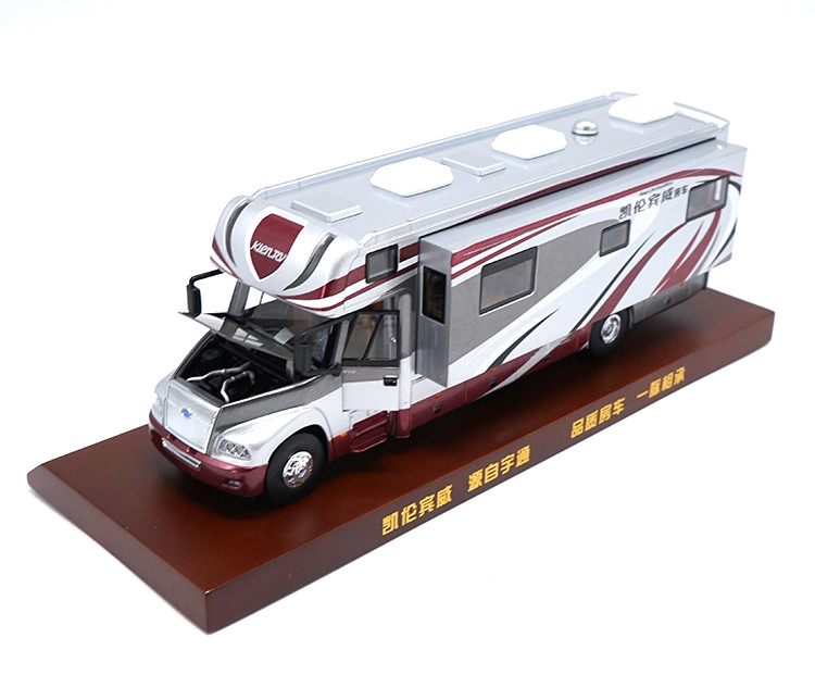 1/42 Yutong KLEN.RV Motor Homes ZK5180 Alloy Toy Car, Diecast Scale Model Car, Collectible Model Car, Miniature Collection Die-cast Toy Vehicles Gifts