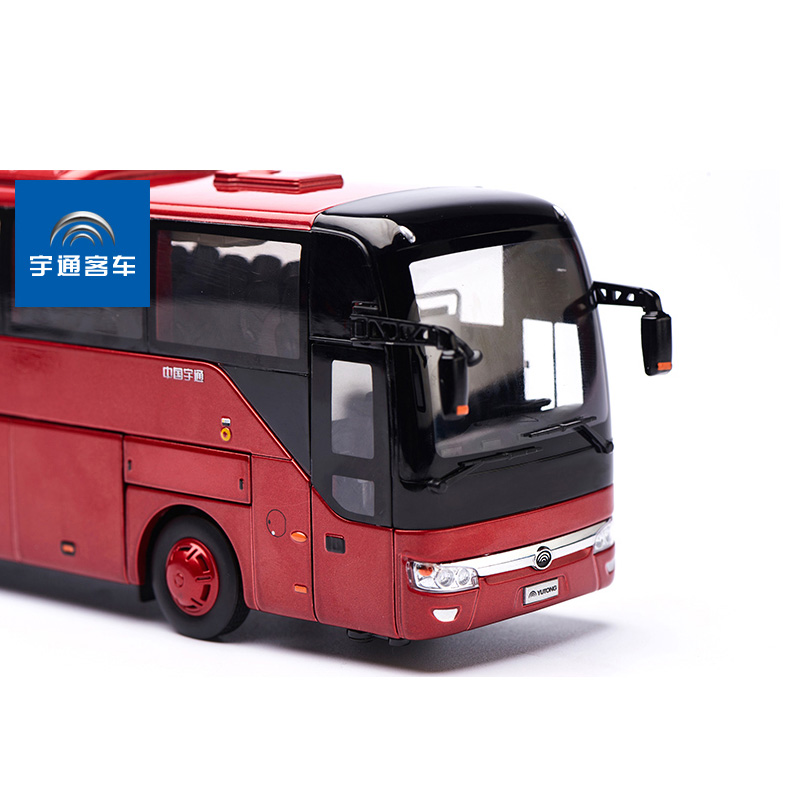 1/42 Yutong Luxury Bus ZK6122H9 Red Alloy Toy Car, Diecast Scale Model Car, Collectible Model Car, Miniature Collection Die-cast Toy Vehicles Gifts