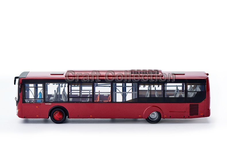 1/42 Yutong ZK6128 City Bus ZK6120R41 Alloy Toy Car, Diecast Scale Model Car, Collectible Model Car, Miniature Collection Die-cast Toy Vehicles Gifts
