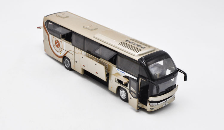 1/42 Yutong ZK6128HQB Bus Alloy Toy Car, Diecast Scale Model Car, Collectible Model Car, Miniature Collection Die-cast Toy Vehicles Gifts