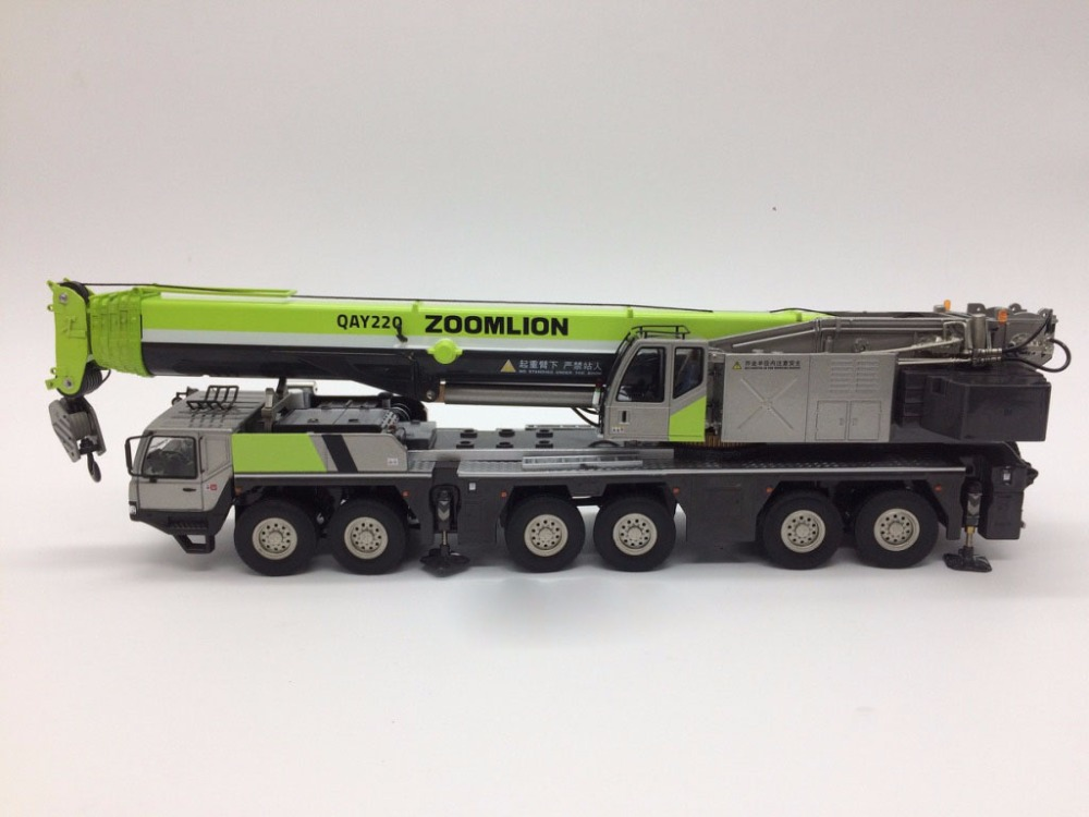 1:50 ZOOMLION QAY220V All Terrain Crane, (Scale Model Truck, Construction vehicles Scale Model, Alloy Toy Car, Diecast Scale Model Car, Collectible Model Car, Miniature Collection Die cast Toy Vehicles Gifts).