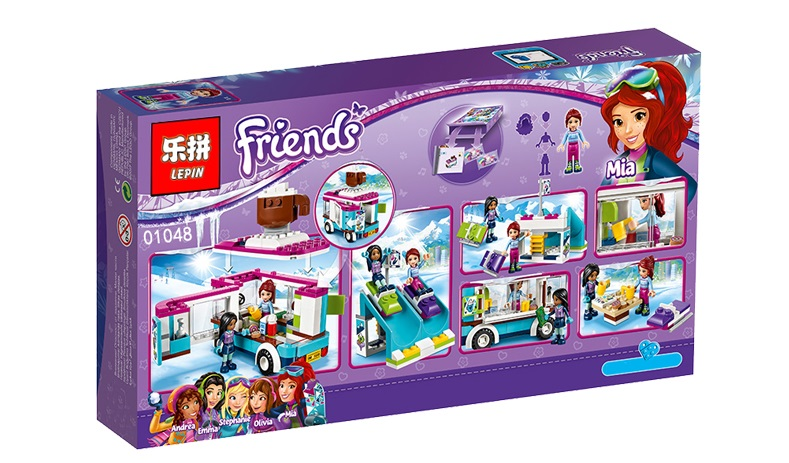 260+ PCS Building Bricks, LP 01048 Building Blocks 41319 Snow Resort Hot Chocolate Van Set.