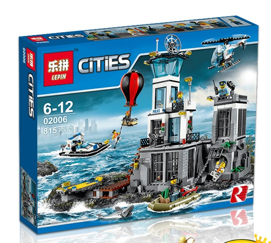 815+ PCS Building Bricks, LP 02006 Building Blocks City 60130 Prison Island.