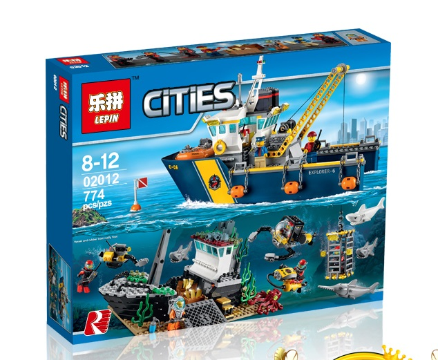 774+ PCS Building Bricks, LP 02012 Building Blocks City 60095 Deep Sea Exploration Vessel.
