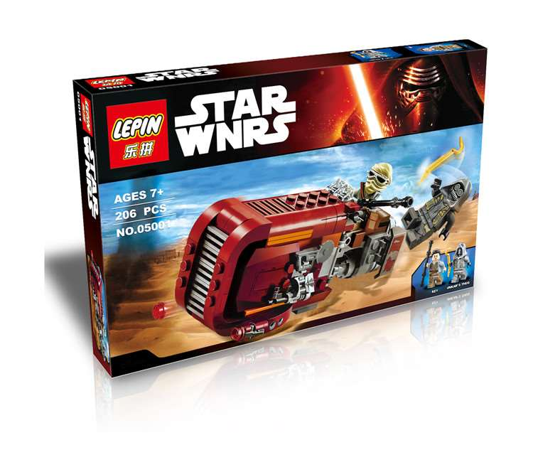 206+ PCS Building Bricks, LP 05001 Building Blocks 75099 Star Wars Rey's Speeder.