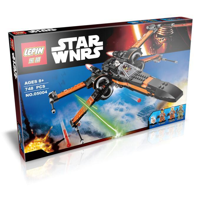 748+ PCS Building Bricks, LP 05004 Building Blocks 75102 Star Wars Poe's X-Wing Fighter.