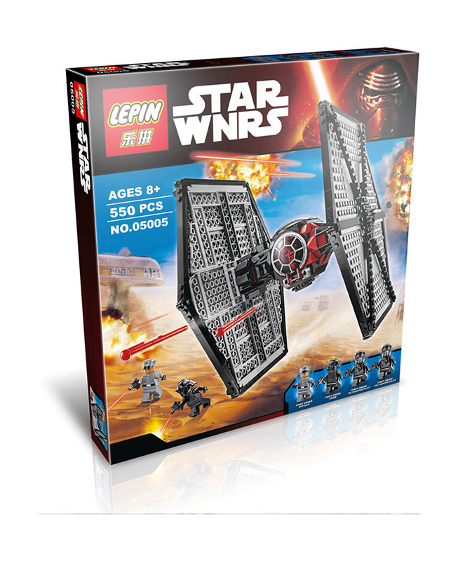550+ PCS Building Bricks, LP 05005 Building Blocks 75101 Star Wars First Order Special Forces TIE Fighter.